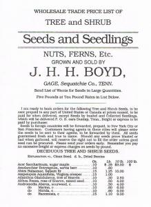 Jonathan Henry Harrison Boyd Tradelist