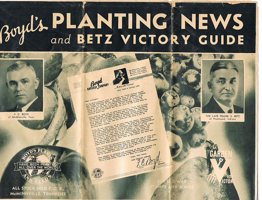 Boyd's Planting News and Betz Victory Guide